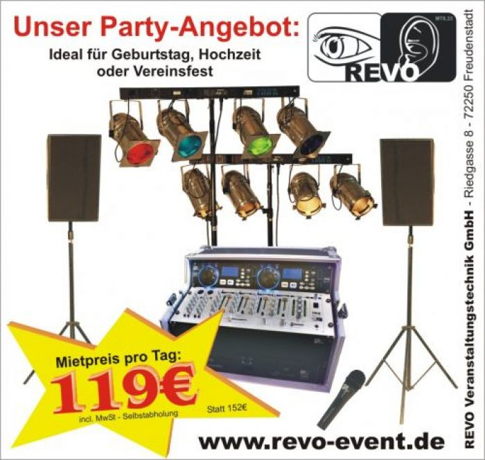 Party-Angebot